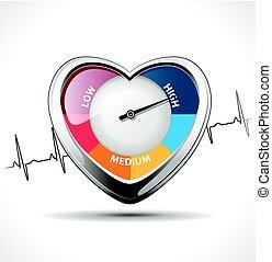Hypertension concept - Healty heart