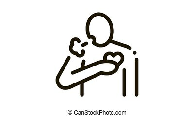 hypertension disease Icon Animation. black hypertension disease animated icon on white background