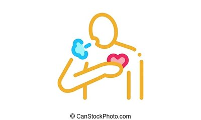 hypertension disease Icon Animation. color hypertension disease animated icon on white background