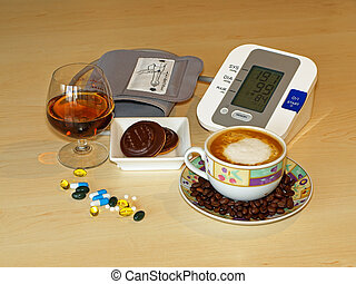 High blood pressure - coffee, alcohol, sweets.
