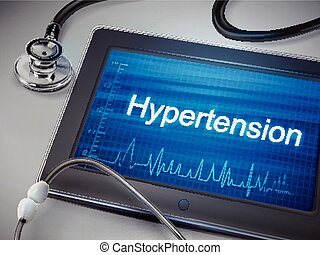 hypertension word display on tablet