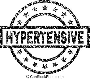 hypertensive, 切手, textured, グランジ, シール