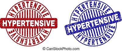 hypertensive, filigranes, grunge, rond, textured
