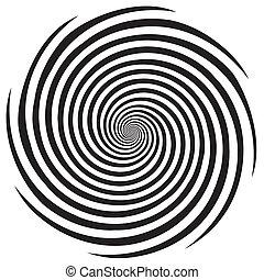 hypnóza, šroubovitý konstruovat, model