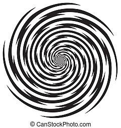 hypnose, conception, modèle spirale