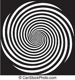 hypnose, ontwerp, spiraalvormig model
