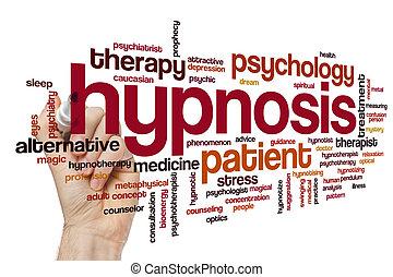 hypnose, wolk, woord