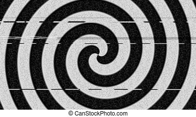 Hypnosis circle with noise (seamless loop)
