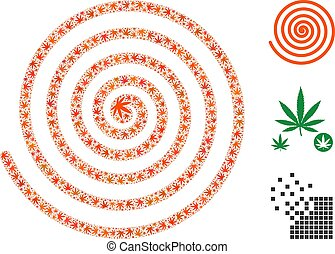 Hypnosis Spiral Collage of Cannabis