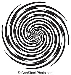 Hypnosis Spiral Design Pattern - Black and white descending ...