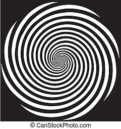 Hypnosis Spiral Design Pattern - Black and white descending...
