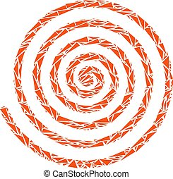 Hypnosis Spiral Mosaic of Triangles