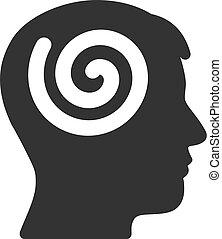 Hypnosis Vector Icon - Vector hypnosis illustration. An...