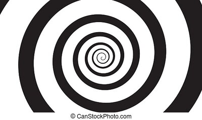 Hypnosis visualisation concept - endless spiral, looped video