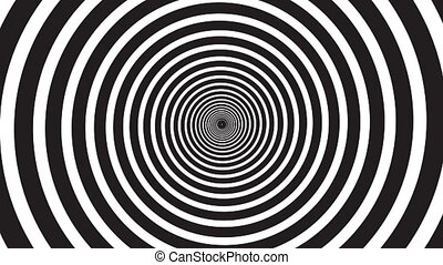 Hypnosis visualisation conept - endless spiral, looped video