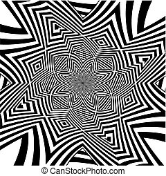 Hypnotic Black And White Flow... - Hypnotic Black And White...