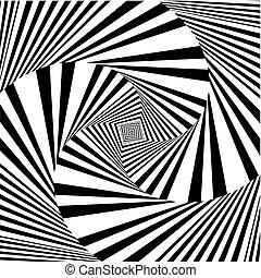 Hypnotic Black And White Squa... - Hypnotic Black And White...