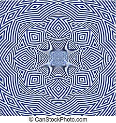Hypnotic Blue Flower Stripe S...