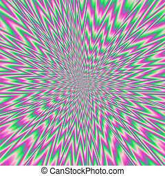 Hypnotic colorful optical illuson