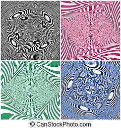 Hypnotic Four Colors Stripe S... - Hypnotic Four Colors...