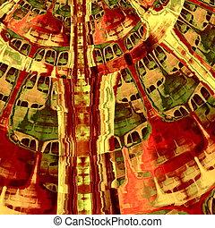 Hypnotic fractal splodge. Art.
