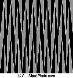 Hypnotic Gray on Black Background