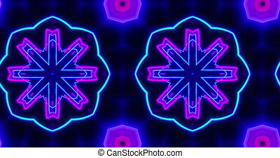 Hypnotic kaleidoscope pattern seamless animation -...