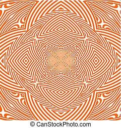 Hypnotic Orange Flower Stripe...