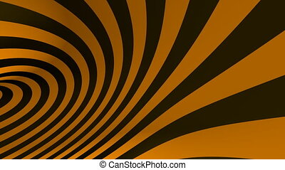 Hypnotic orange spiral tunnel seamless looping motion...
