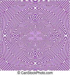 Hypnotic Purple Flower Stripe...