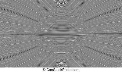 Hypnotic Rotation Planet Animation