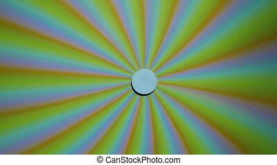Hypnotic spinning pinwheel