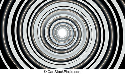 Hypnotic spiral - Black and white hypnotic spiral