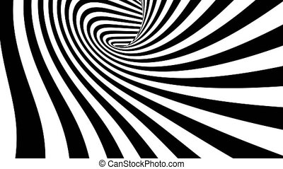 Hypnotic spiral tunnel seamless looping motion graphics