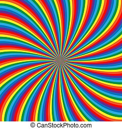 hypnotic swirl with rainbow colors. stripes abstract background