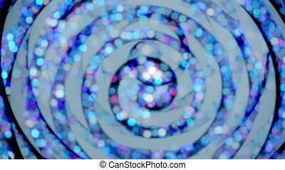 hypnotique, tourner, papier peint, spirale