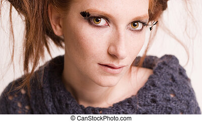 hypnotising redhead - Studio portrait of a natural redhead...
