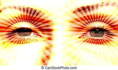 Hypnotizing eyes. Seamless loop. - Hypnotizing psychedelic...