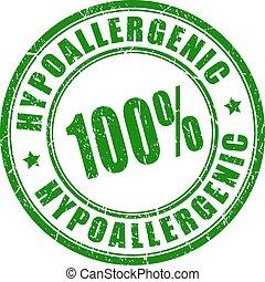 hypoallergenic, francobollo, vettore