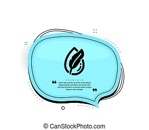 Hypoallergenic tested icon. Feather sign. No synthetic. Vector