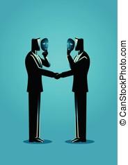 hypocriet, overeenkomst, concept