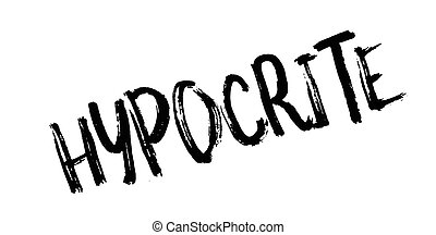 Hypocrite rubber stamp. Grunge design with dust scratches....