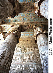 hypostyle, dendera, salle, temple