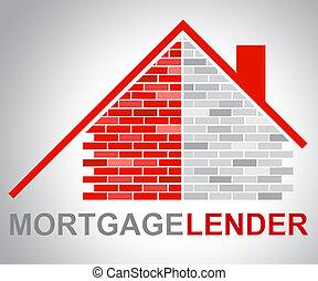 hypothèque, moyens, prêt, emprunter, prêteur, maison