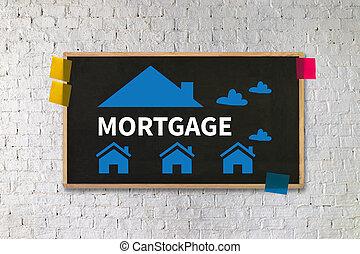 hypothèque, propriété, immobiliers, maison, payer, prêtez paiement