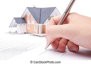 hypotheek, contracteren
