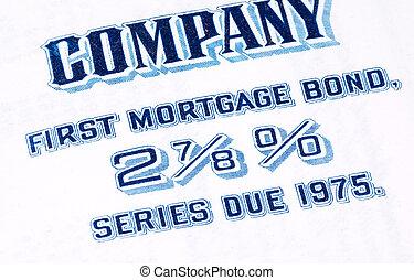 hypotheek, obligatie