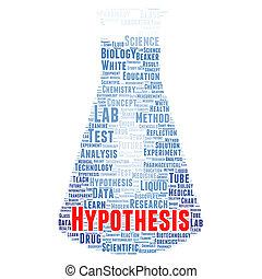 Hypothesis word cloud concept - Hypothesis word cloud shape...
