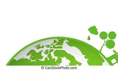 iść, ziemia, zielony