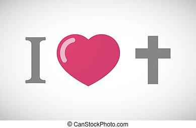 """i, 交差点, キリスト教徒, 象形文字, love"""
